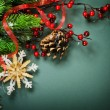 Foto Stock: Christmas Vintage decoration border design