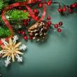 diseño de la frontera de Navidad decoración vintage — Foto de Stock