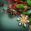 Christmas Decorations border design — Foto Stock