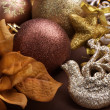Foto Stock: Christmas Decorations. Vintage styled