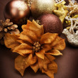 Christmas Decorations. Vintage styled — Stock Photo
