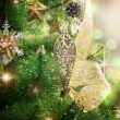 Stock Photo: Christmas Tree Decorated