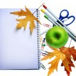 School Tools Over White. Education Concept — Stock Photo