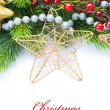 Christmas Decoration Border design isolated on white — 图库照片