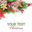 Royalty-Free Stock Photo: Christmas border over white