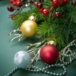 Stock Photo: Christmas Decorations border design. Vintage Style