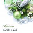 Christmas border over white — Stock Photo #10681250