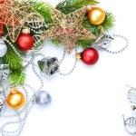 Christmas border over white — Stock Photo #10681257