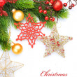 Christmas Decoration over white — Foto Stock