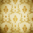Stock Photo: Golden Damask Pattern