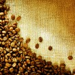 Coffee Beans Border Design - Stock Photo