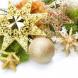 Christmas border over white — Stock Photo #10681427