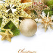 Christmas border over white — Stock Photo #10681430