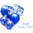 New Year or Christmas Decoration over white — Stock Photo