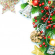 Christmas Corner design over white — Stock Photo #10681657