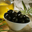 Royalty-Free Stock Photo: Black Olives and Virgin Olive Oil