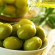 Olives And Olive Oil — Foto de Stock