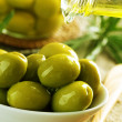 Olives And Olive Oil — Photo