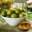 Olives And Olive Oil - Foto Stock