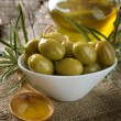 Olives and Virgin Olive Oil — Stock Photo #10682077
