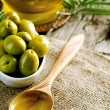 Olives And Olive Oil — Stock Photo #10682109