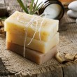 Stock Photo: Handmade Soap closeup. Spproducts