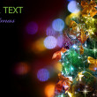 Christmas Tree Decorated. Over Black — Stock Photo #10682230