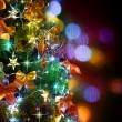 Christmas Tree Decorated. Over Black — Stock Photo #10682232