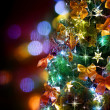 Christmas Tree Decorated. Over Black — Foto de Stock