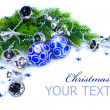 Stock Photo: Christmas Corner design over white