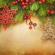 Royalty-Free Stock Photo: Beautiful Christmas Vintage Greeting Card with copy space