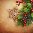 Stockfoto: Christmas Vintage Greeting Card with copy space