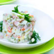 Salad Olivier. Russian traditional salad — Stock Photo #10683034