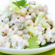 Salad Olivier. Russian traditional salad — Stock Photo #10683040