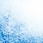 Зима Снег фон. Снежинки — Стоковое фото