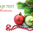 Christmas and New Year Border over white — Stock Photo