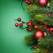 Stock Photo: Christmas Decoration border Design