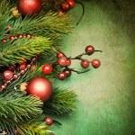 圣诞复古卡 — 图库照片