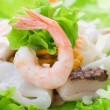 Royalty-Free Stock Photo: Healthy Seafood Salad with shrimps, octopus and mussels