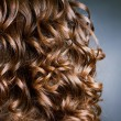 Curly Hair. Hairdressing. Wave .Natural Hair - Zdjęcie stockowe