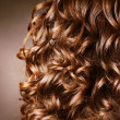 Curly Hair. Hairdressing. Wave .Natural Hair - ストック写真