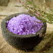 Spa Lavender Salt — Stock Photo