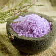 Stock Photo: Spa Lavender Salt