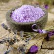 Spa Lavender treatment — Stock Photo