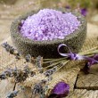 Spa Lavender treatment - Stock Photo