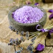 Spa Lavender Salt — Stock Photo #10684430