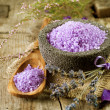 Spa Lavender Salt. Aromatherapy — Stock Photo