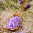 Spa Lavender Salt — Stock Photo #10684433