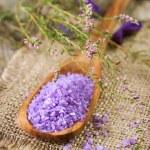 Spa Lavender Salt — Stock Photo