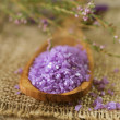 Spa Lavender Salt — Stock Photo #10684435